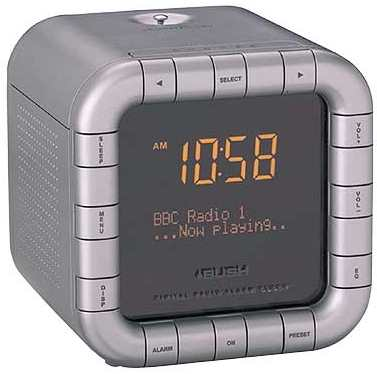 bush portable dab fm clock alarm radio dabcr2003 ebay. Black Bedroom Furniture Sets. Home Design Ideas