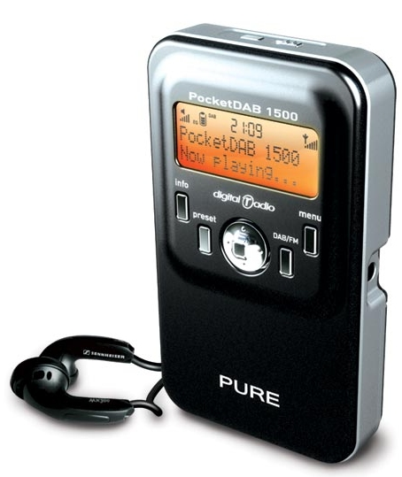 Pure PocketDAB 1500 DAB digital radio with FM receiver
