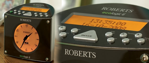 roberts ecologic 6 alarm clock dab with traditional. Black Bedroom Furniture Sets. Home Design Ideas