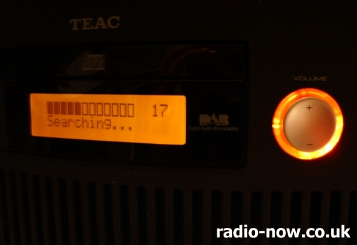 TEAC SR-L50 DAB digital radio closeup