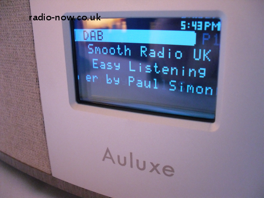 Auluxe DAB/FM display