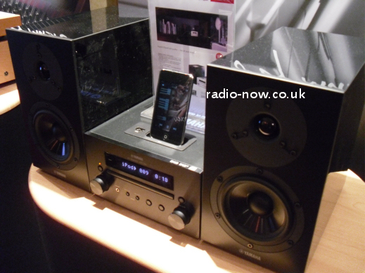 yamaha mcr550 dab ipod cd micro system with speakers. Black Bedroom Furniture Sets. Home Design Ideas