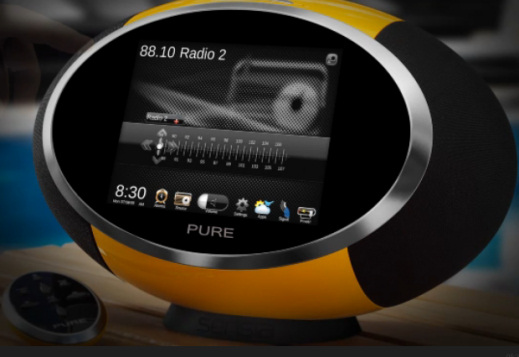 Pure Sensia - selecting an FM radio station