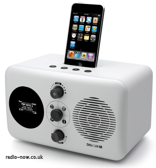 Revo Domino D3 with iPod in dock