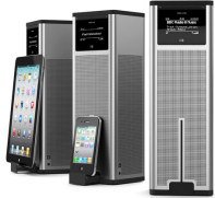 Revo K2 internet radio tower with Apple device docking