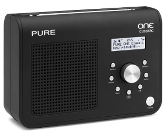 Pure One Classic Series II DAB/FM radio in black