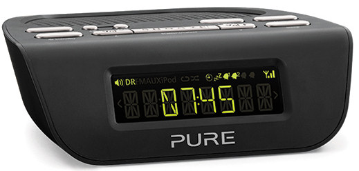 Pure Siesta Mi Series 2 DAB alarm clock radio in black