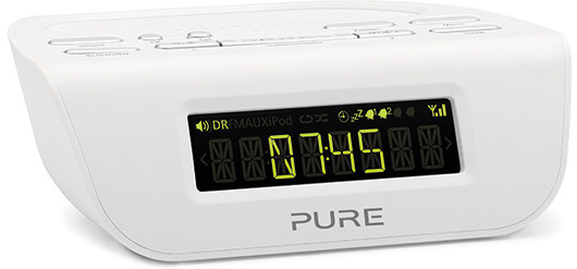 Pure Siesta Mi DAB alarm clock radio in white