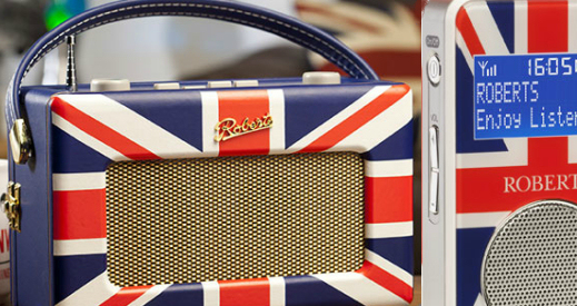 An article about DAB receivers with Union Jack designs on the front