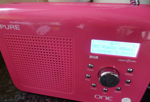 Pure One DAB radio showing BBC 6 Music tuned in