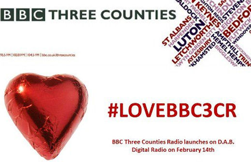 BBC Three Counties Radio launches on DAB on 14th Feb 2013