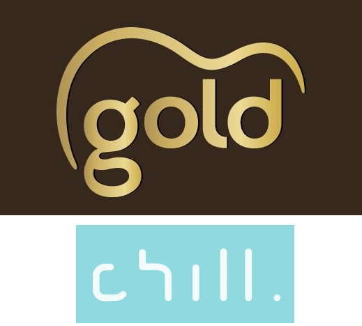 Gold Radio and Chill logos