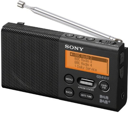 sony xdr p1dbp pocket rechargeable dab dab fm radio ebay. Black Bedroom Furniture Sets. Home Design Ideas