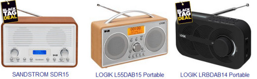 Cheap DAB digital radio deals for Cyber Monday and the Black Friday Weekend