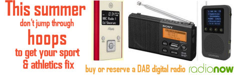 Pocket a handheld DAB radio this summer for sports, speech and more...