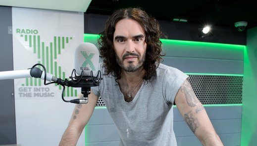 Russell Brand returns to live radio with a two-hour show on Radio X