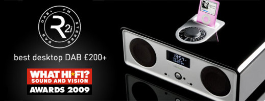 Vita R2i DAB/FM tabletop audio system with iPod dock