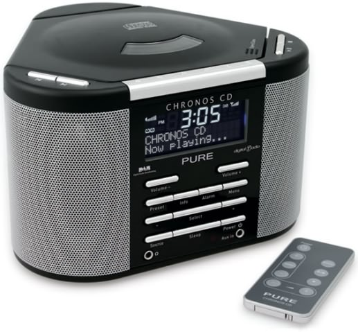 pure chronos cd dab radio alarm radio. Black Bedroom Furniture Sets. Home Design Ideas